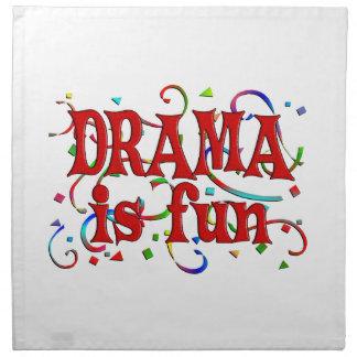 El drama es diversión servilleta imprimida
