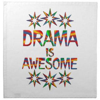 El drama es impresionante servilletas de papel