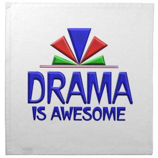 El drama es impresionante servilletas imprimidas