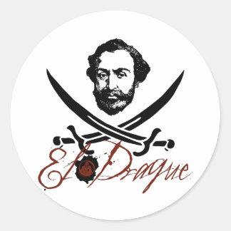 El Draque Pirate Insignia Classic Round Sticker