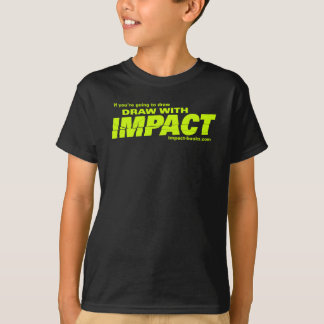El drenaje con impacto embroma camiseta-oscuro playera