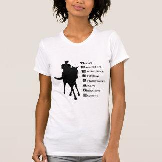 El Dressage es camiseta de algodón de la silueta