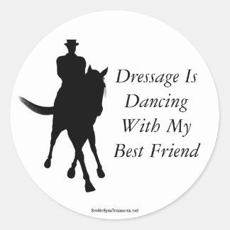 El Dressage está bailando al pegatina del caballo
