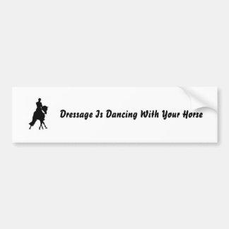 El Dressage está bailando con su caballo Pegatina Para Auto