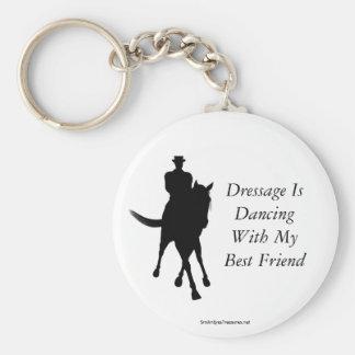 El Dressage está bailando llavero del caballo del