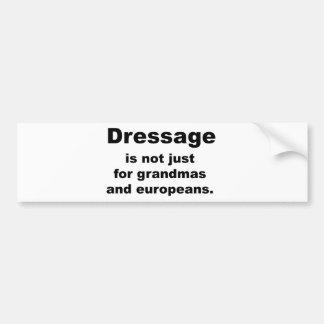 El Dressage no está apenas para… Etiqueta De Parachoque