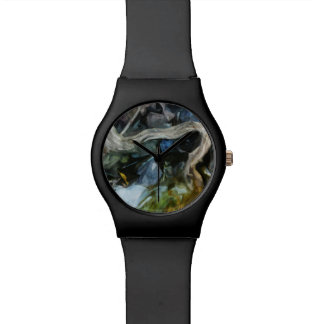 El Driftwood en el río oscila impresionismo abstra Reloj