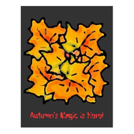 ¡el drybrushautumn, la magia del otoño está aquí! postal