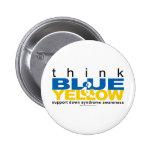 El DS piensa el azul y el amarillo Pins
