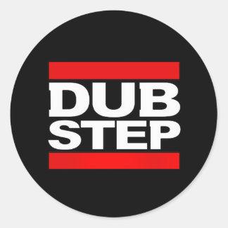 el dubstep remezcla-dubstep dubstep-kode9 pegatina redonda