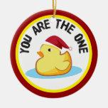 El duckie de goma usted es el un ornamento del nav ornamento de navidad