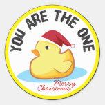 El duckie de goma usted es el un sello del regalo pegatina redonda