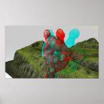 el duende 3D alcanza hacia fuera y toca Posters