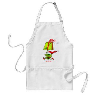 El duende de Santa de las Felices Navidad Delantales
