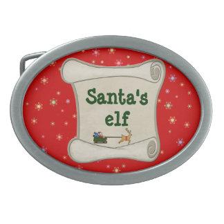 El duende de Santa Hebillas Cinturon