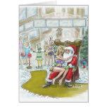 ¡El duende de Santas ayuda hacia fuera a grande! T Tarjetas