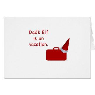 El duende del papá está en productos de las vacaci tarjeta de felicitación