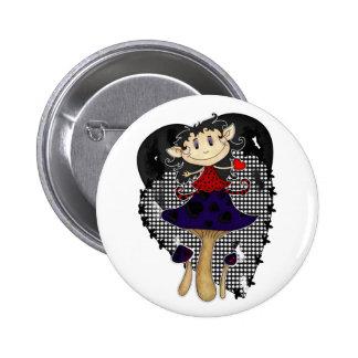 el duende gótico lindo en seta con los corazones b pins