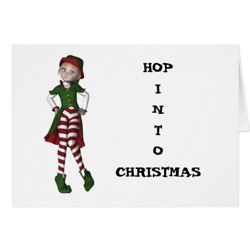 El duende más lindo del navidad tarjeta de felicitación