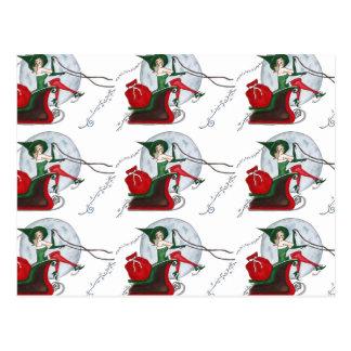 El duende y el trineo de Santa Postal