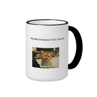 El dueño más grande del gato de los mundos taza