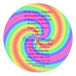 El dulce 16 del Lollipop del tema del caramelo de  Invitación
