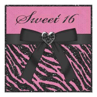 El dulce 16 imprimió brillo, la joya y el arco de anuncios personalizados