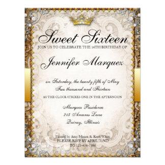 El dulce adornado dieciséis del guión del cuento d invitación