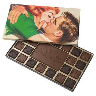 El dulce besa la caja del chocolate del día de San Caja De Bombones Variados Con 45 Piezas