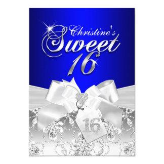 """El dulce bonito 16 del azul real del arco del invitación 5"""" x 7"""""""