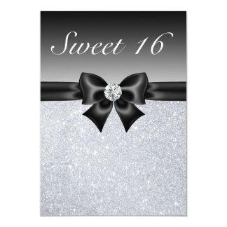 """El dulce de plata 16 de las lentejuelas, del arco invitación 5"""" x 7"""""""