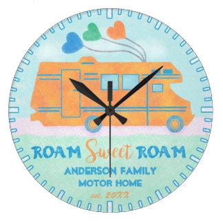 El dulce del campista de Motorhome rv vaga por Reloj Redondo Grande