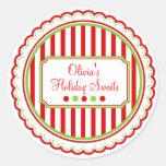 El dulce del navidad raya a los pegatinas del día