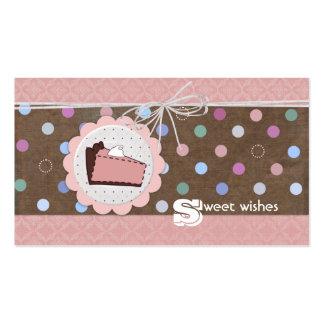 El dulce desea tarjetas de visita
