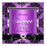 El dulce dieciséis 16 va de fiesta negro púrpura comunicado