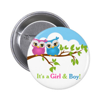 El dulce hermana el botón del bebé del chica del pins