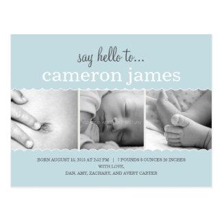 El dulce hornea la invitación del nacimiento a la  tarjetas postales
