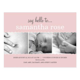 El dulce hornea la invitación del nacimiento a la tarjeta postal