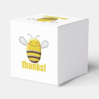 El dulce manosea la abeja dice gracias caja para regalo de boda