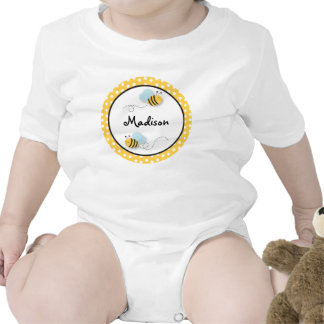 El dulce manosea la camiseta personalizada abeja d
