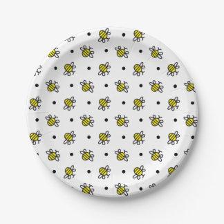 El dulce manosea las placas de papel del modelo de plato de papel de 7 pulgadas