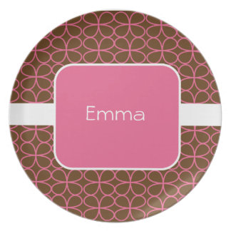 El dulce personalizado embroma la placa plato de comida