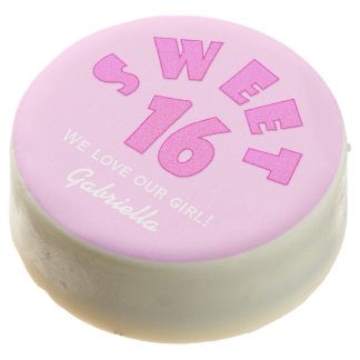 El dulce rosado personalizado 16 sumergió las