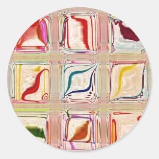 El dulce teja personalizable del ~ pegatina redonda