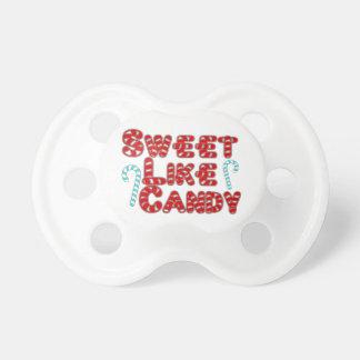 El dulce tiene gusto del caramelo chupetes para bebés
