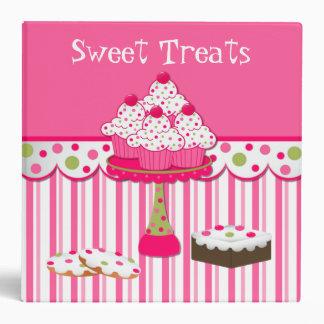 El dulce trata la carpeta de la receta de la