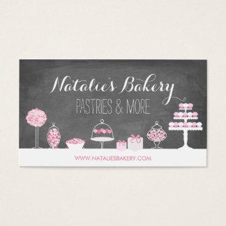El dulce trata la panadería de la pizarra tarjeta de negocios