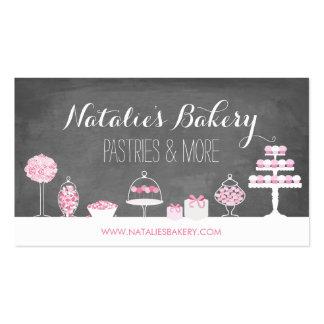 El dulce trata la panadería de la pizarra tarjetas de visita