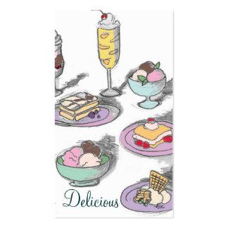 El dulce trata la tarjeta de visita artsy
