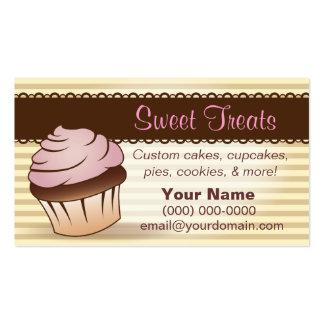 El dulce trata la tarjeta de visita de la panaderí